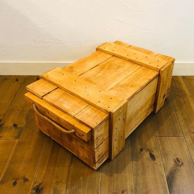 梱包木箱 塗装品 サイズ 1箱 / 梱包箱 木箱 ボックス ウッドボックス 輸送箱 弾薬ケース 弾薬箱 ダイナマイト箱 爆薬箱