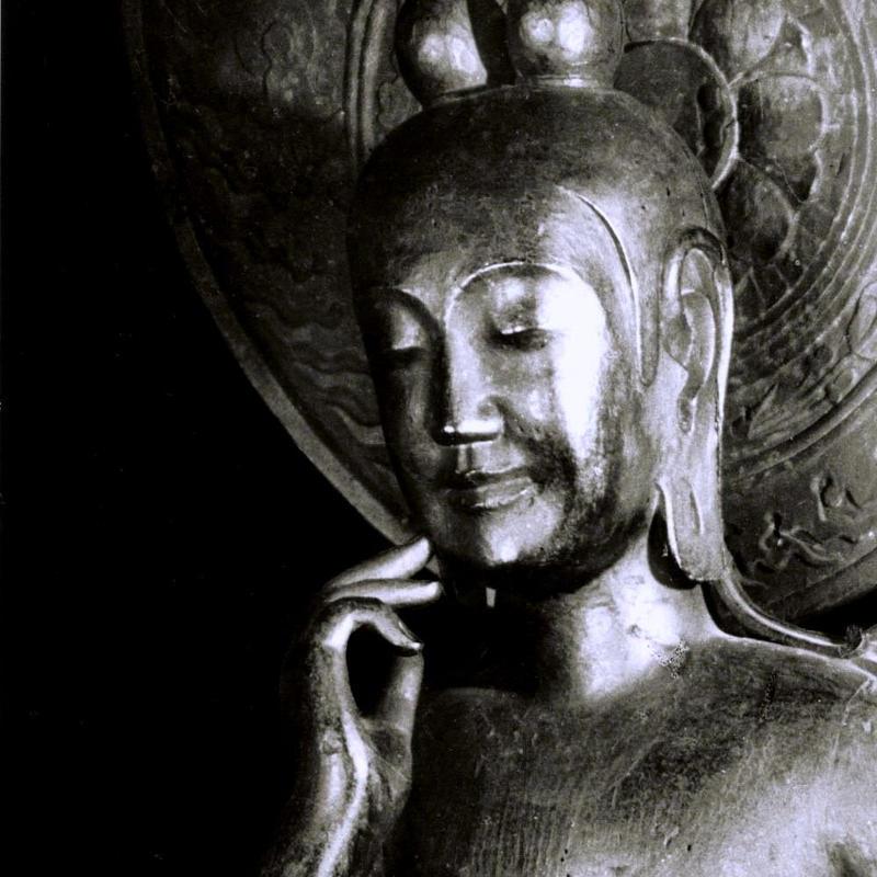 ハイブリッド仏像ポスター「中宮寺如意輪観音」(御顔)四つ切サイズ