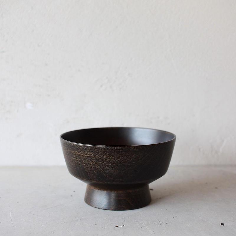 BASE 01 飯椀(黒漆拭き漆仕上げ)