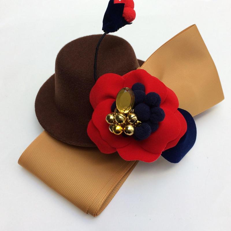 〈order  made〉velvet flower× mini hat