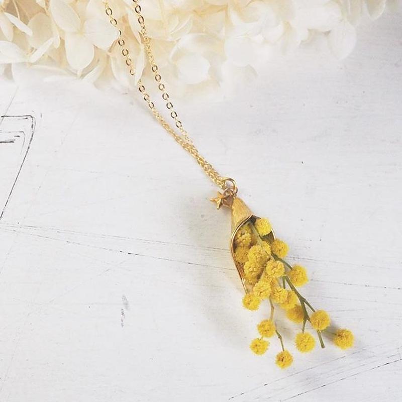 mimosa ミモザのネックレス
