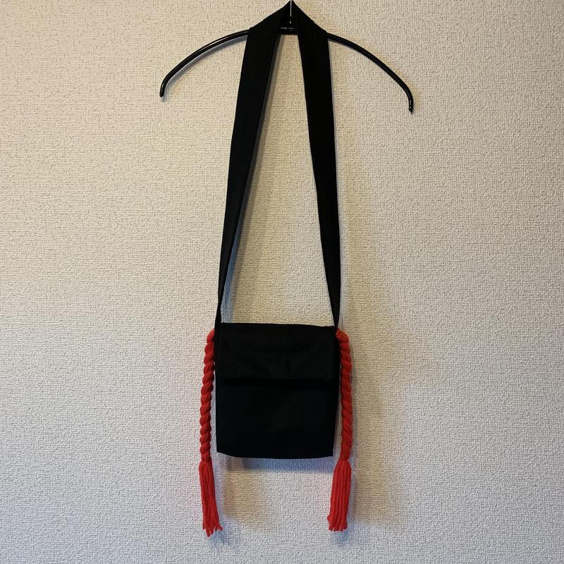 三つ編みポシェット:レッド