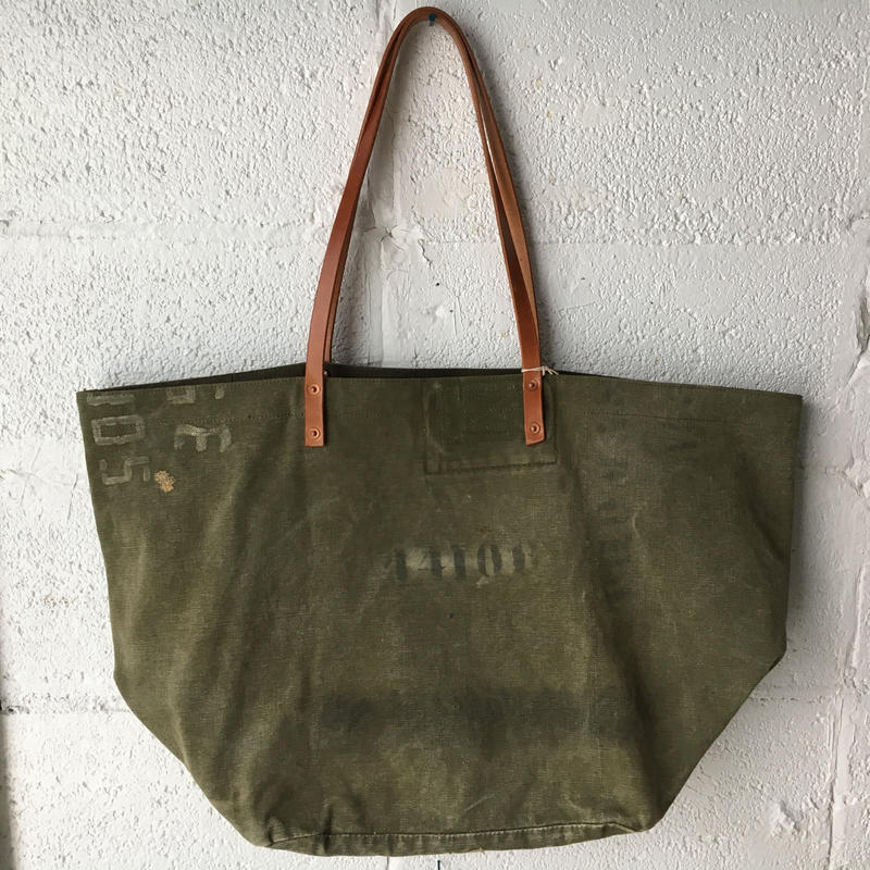 #335 1950's U.S.Military dufflebag reworked bag