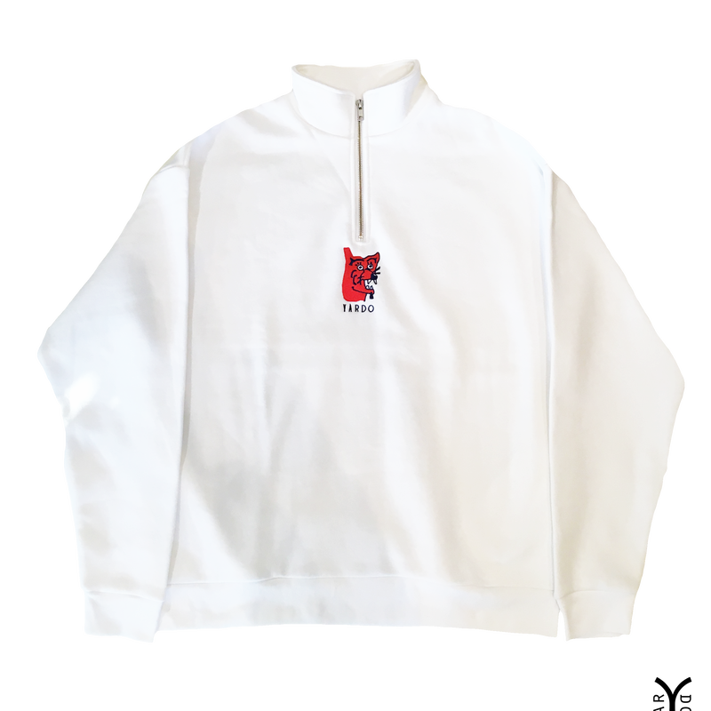 D A W G   half zip sweat