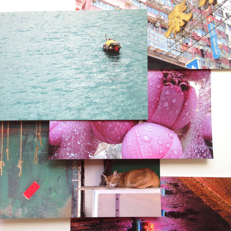 長谷部千彩撮影ポストカード『香港スタイルミルクティーシリーズNo.1~No.5』五枚セット