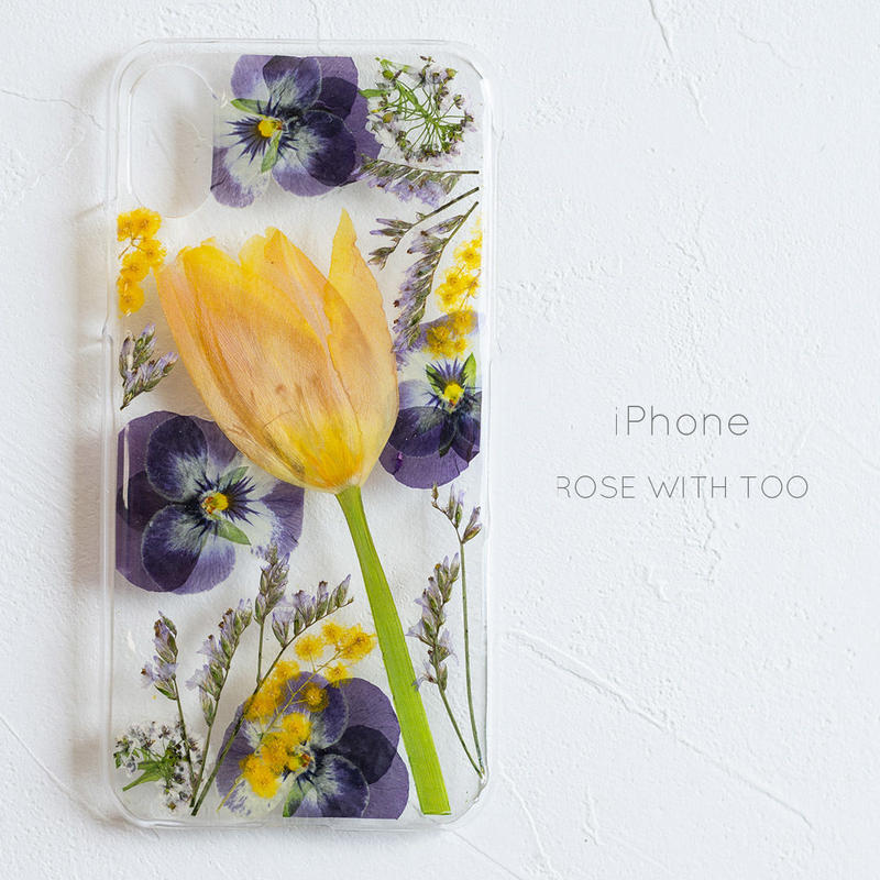 iPhone /  押し花 スマホケース0327_5