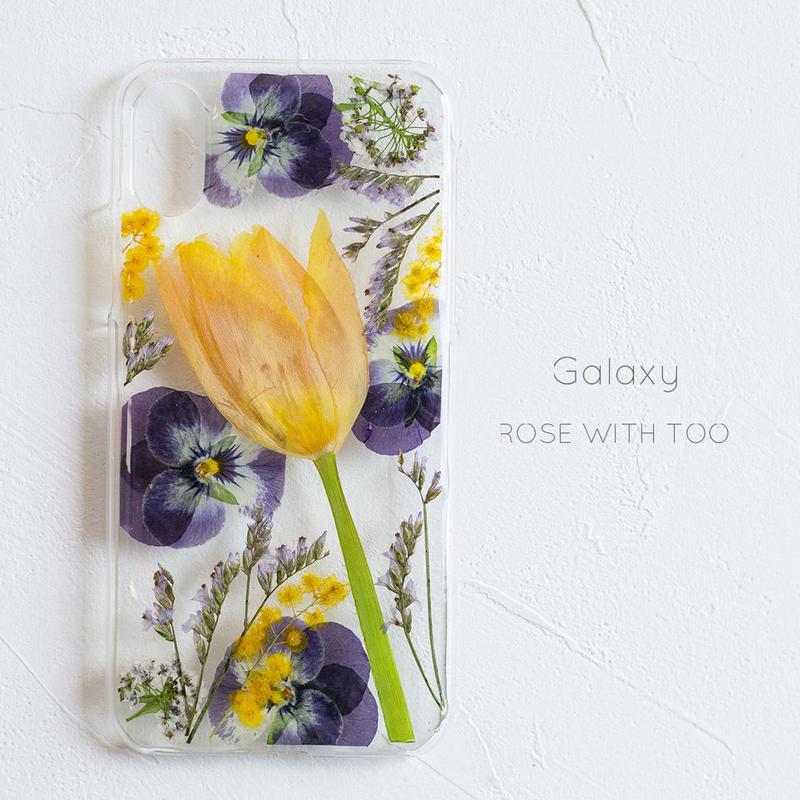 Galaxy / 押し花 スマホケース0327_5