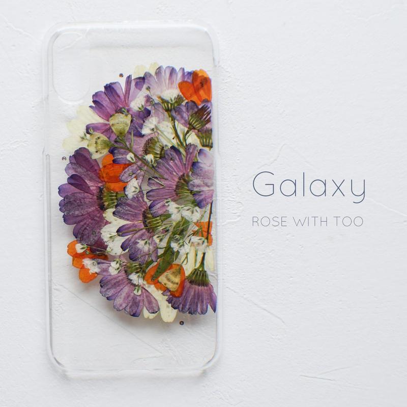 Galaxy / 押し花スマホケース 20190409_1