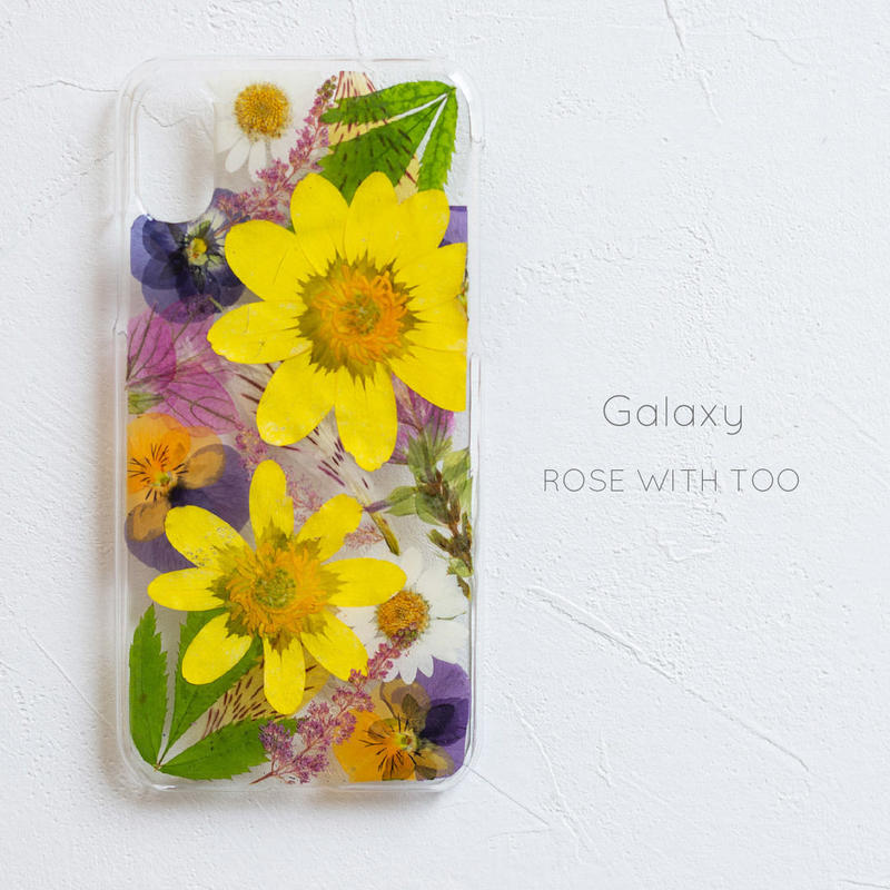Galaxy / 押し花 スマホケース0327_1