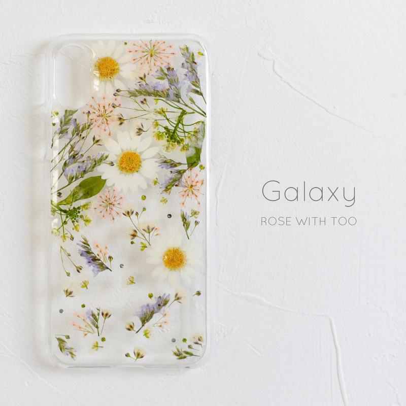 Galaxy /   押し花スマホケース 2019043_4