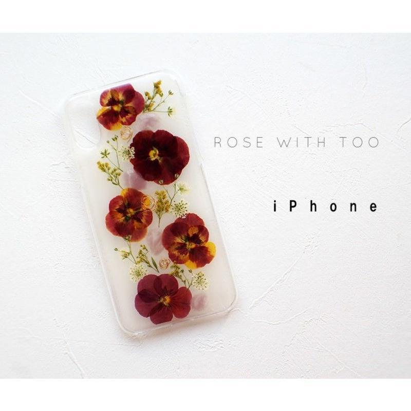 iPhone /  押し花ケース20190717_4