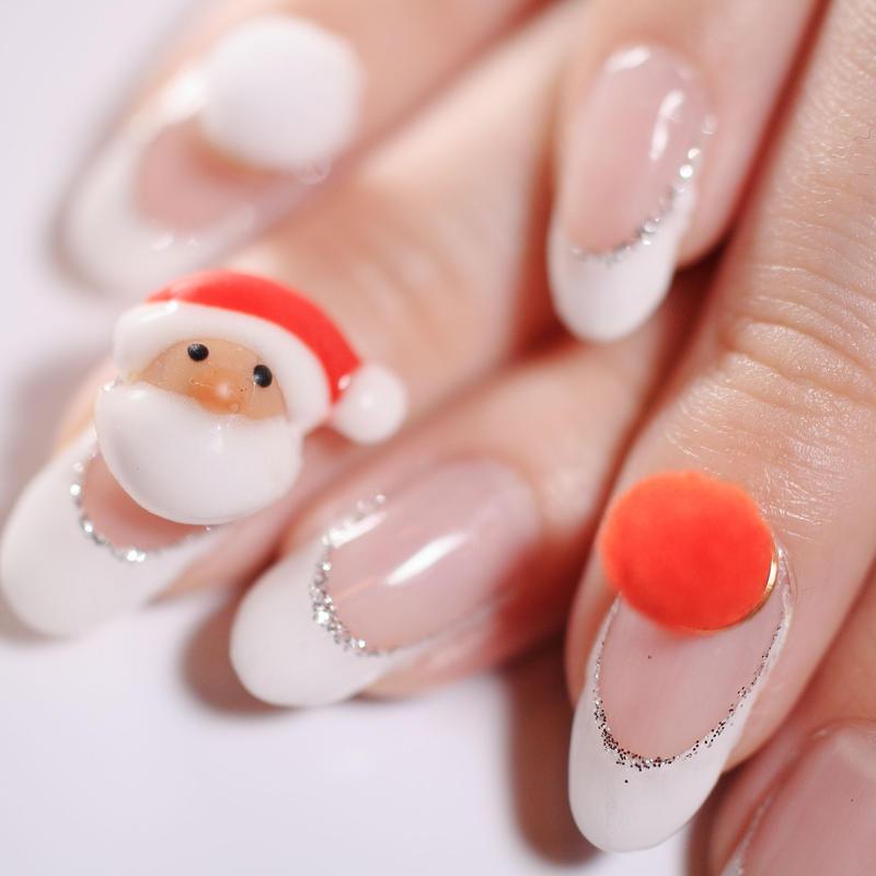 【期間限定】お試し クリスマスネイル サンタセット
