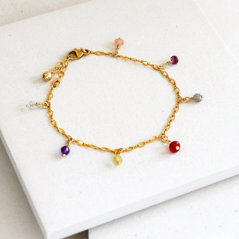 MULTICOLORED STONES BRACELET