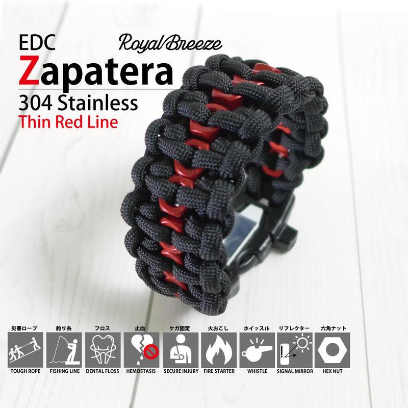 Royal Breeze|パラコード|ブレスレット|シンレッドライン|ブラック|EDCザパテラ|ハンドメイド|日本製