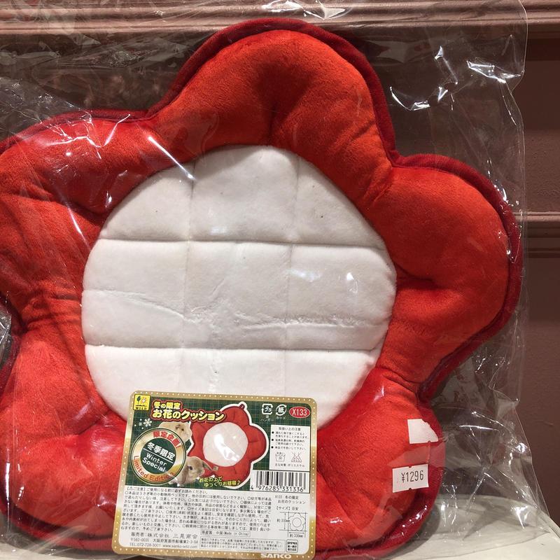 【SALE】紅白お花クッション