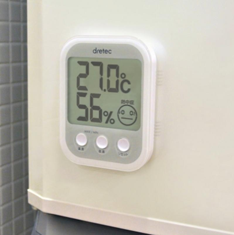 温湿度計 <大きめ長方形マグネット付きタイプ>