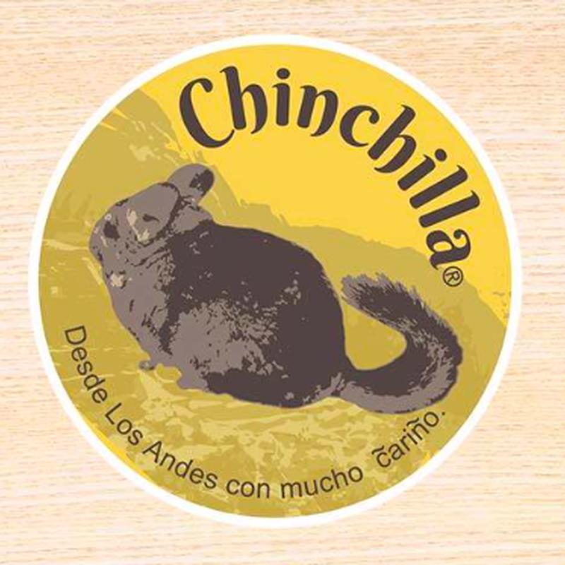 【Chinchilland】白地タイプ屋外ステッカー(アンデスチンチラ)