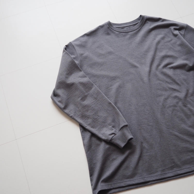 """Graphpaper """"L/S OVERSIZE Tee"""" C.Gray"""