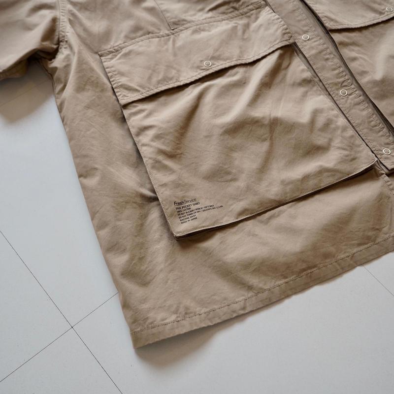 """FreshService """"Five Pocket Shirt""""  Beige unisex"""