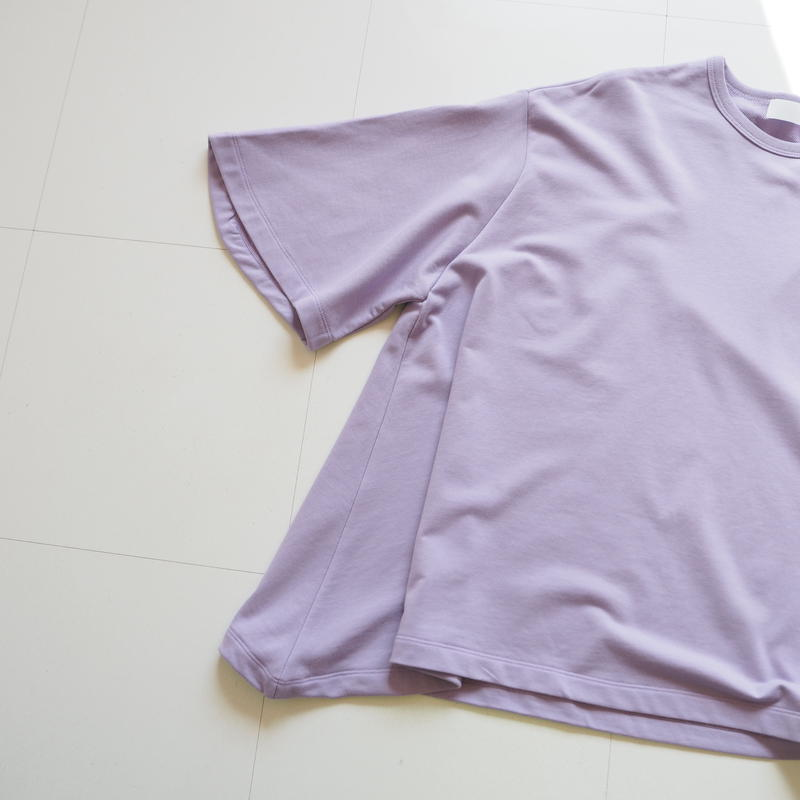 "Graphpaper ""Sweat S/S Irregular hem Tee"" Purple women"