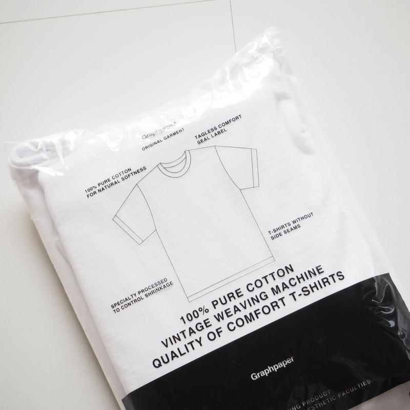 "Graphpaper ""Original 2-Pack Crew Neck Tee""  White unisex"