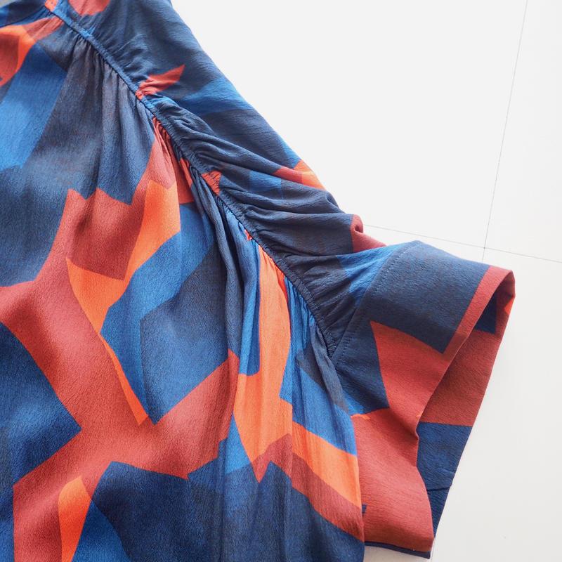 "HENRIK VIBSKOV ""Renew Dress"" vermillion and blue"
