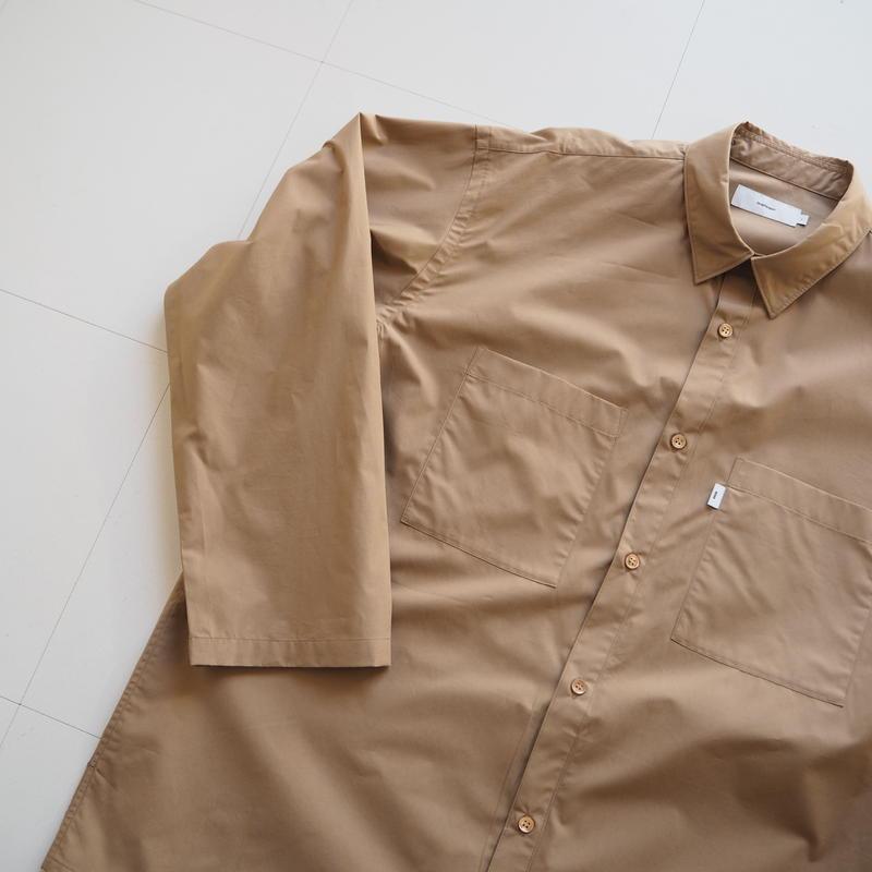"Graphpaper ""Typewriter L/S Box Shirt"" Beige unisex"