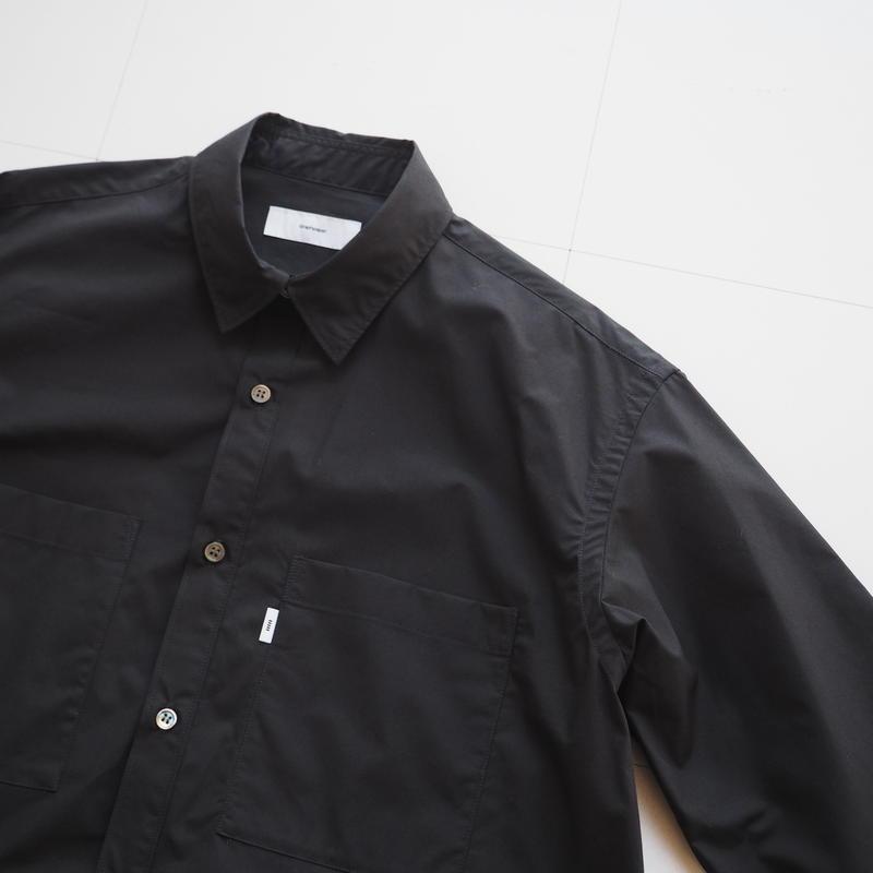 """Graphpaper """"Typewriter L/S Box Shirt"""" Black unisex"""