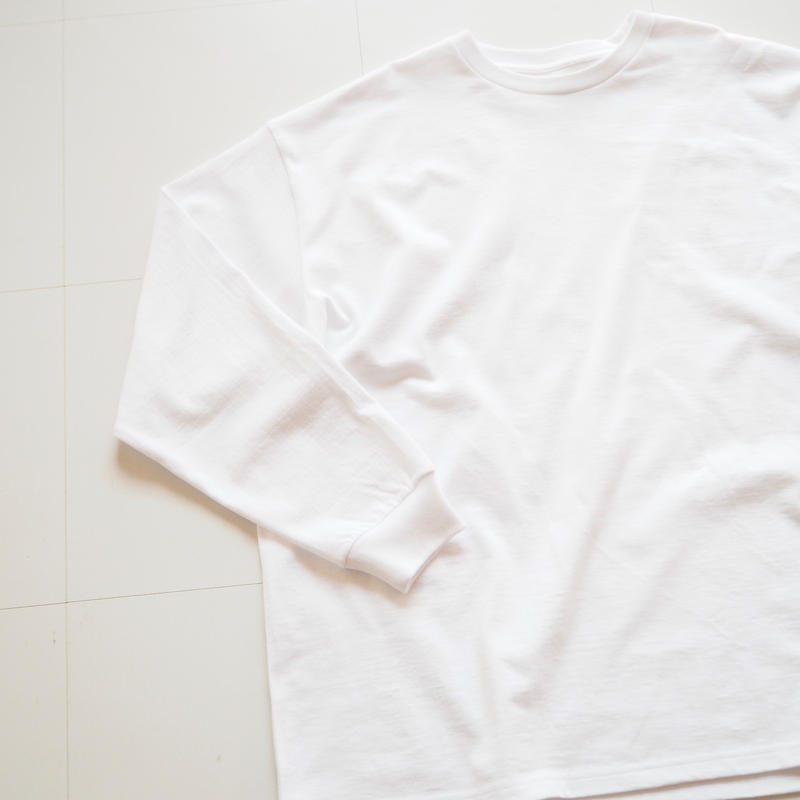 """Graphpaper """"L/S OVERSIZE Tee"""" White"""