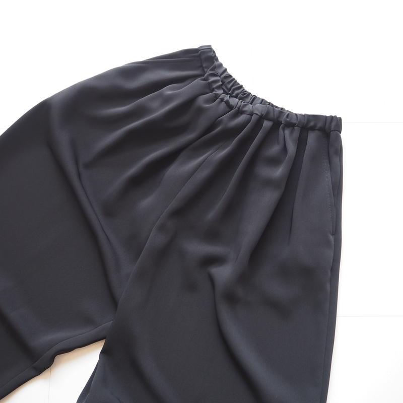 "Graphpaper ""Satin Wide Gather Pants "" Black"