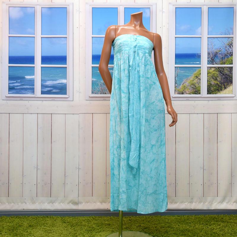 LANI LAUラニラウ Jazz Long Dressジャズロングドレス ターコイズブルー LA014