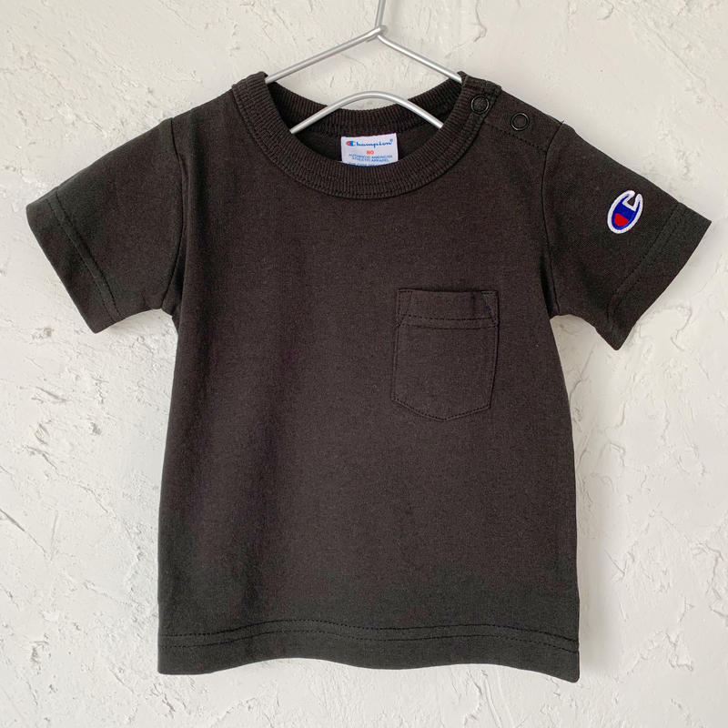 【Champion】POCKET TEE (BLACK SIZE 80-90)