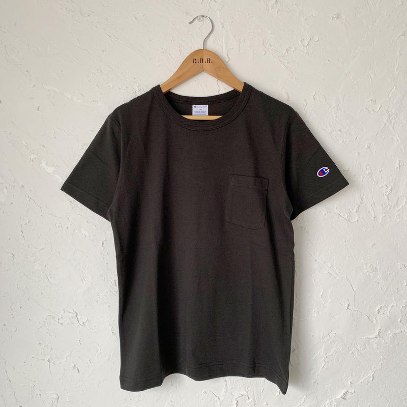 【Champion】POCKET TEE (BLACK SIZE 150-160)
