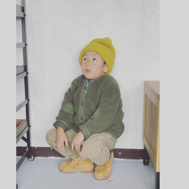 【DENIM DUNGAREE 】キルトリップ リバーシブル JK SIZE 100-120