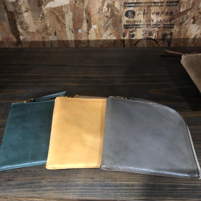 Short Zip Wallet 01 – Waxed 3 colors