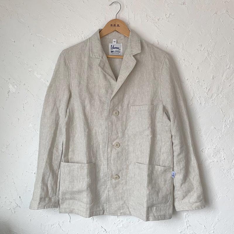 【YARMO】Linen Drivers Jacket