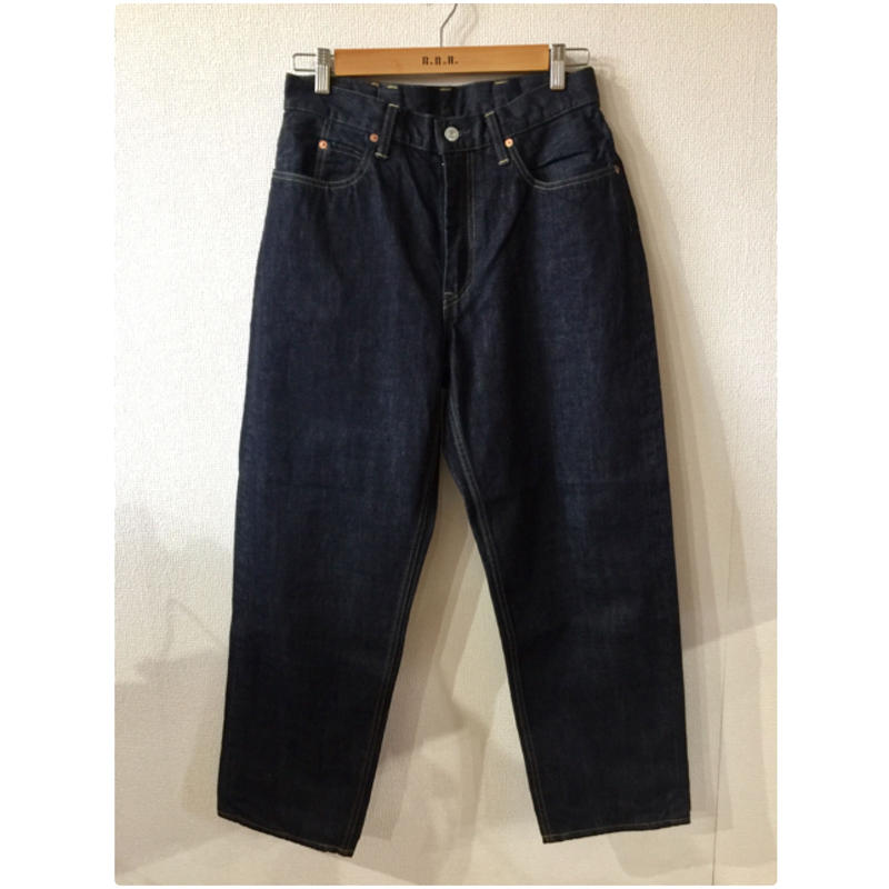 【GOWEST】LOOSE TAPERED PANTS / 14oz SELVAGE DENIM