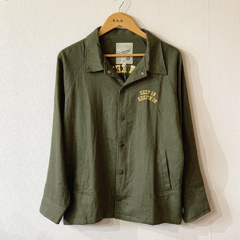 "【GOHEMP】""KEEP ON"" COACH JACKET"