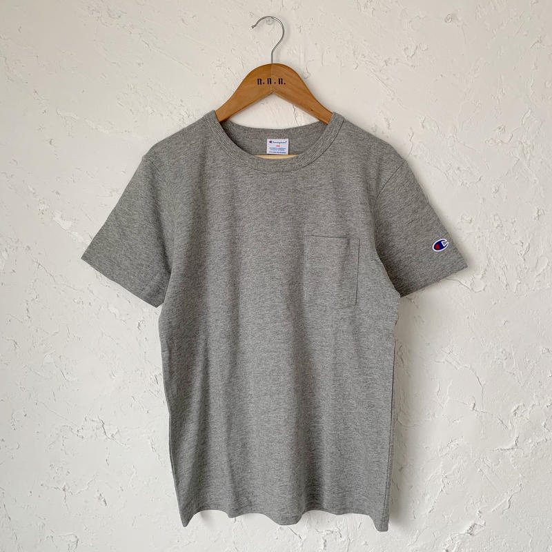 【Champion】POCKET TEE (GRAY SIZE 150-160)