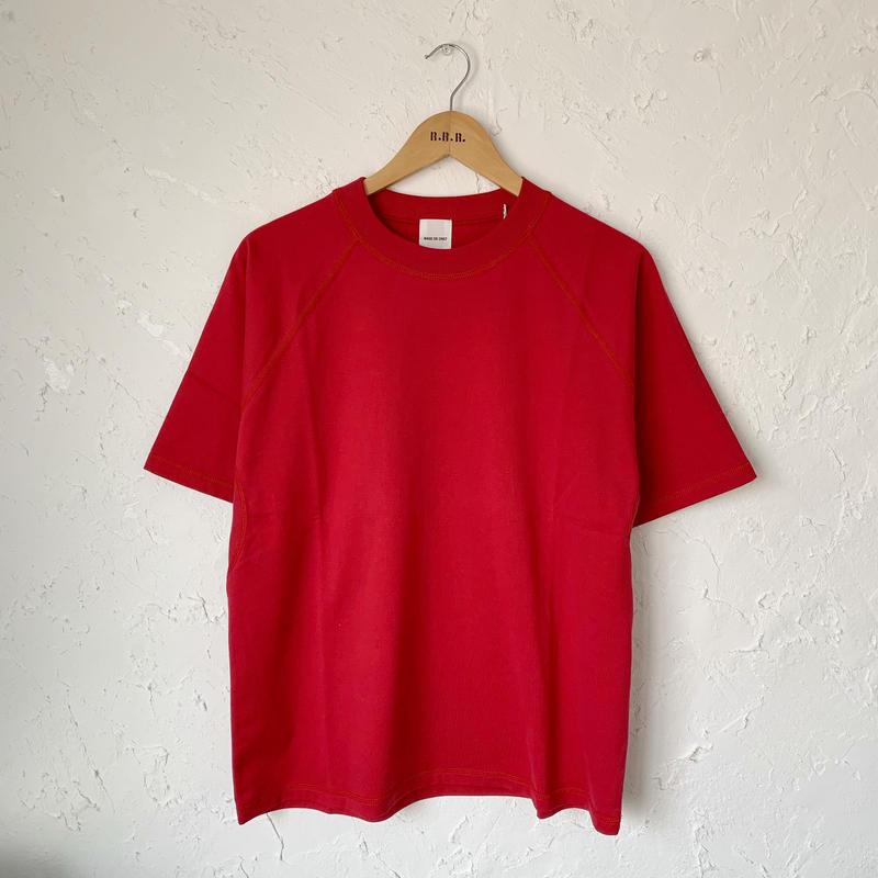 【SAGE DE CRET】クラッシック天竺SSクルーネックPO (RED)