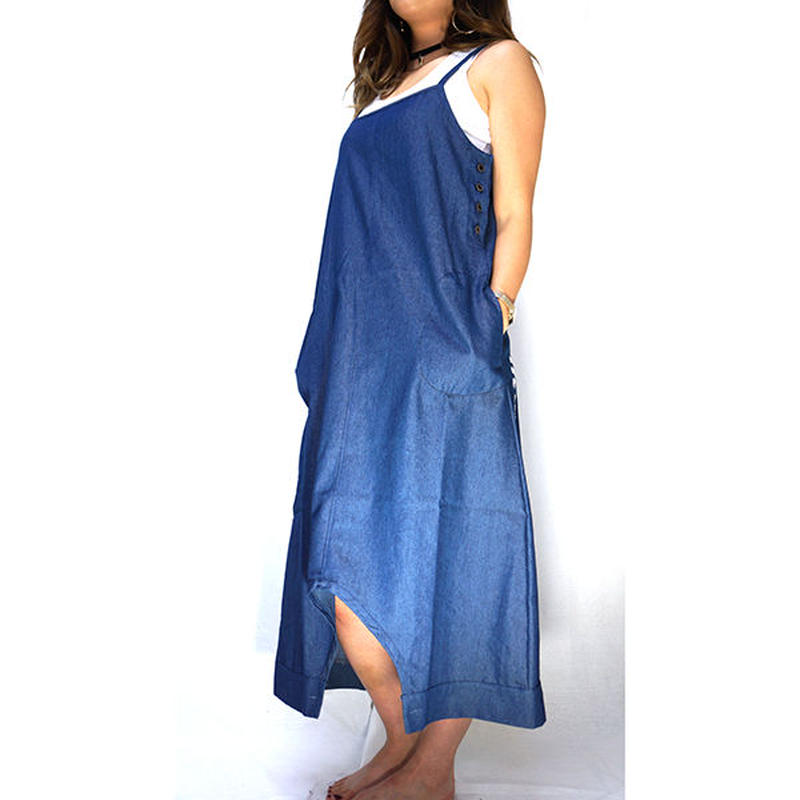 DENIM SARROUEL DRESS