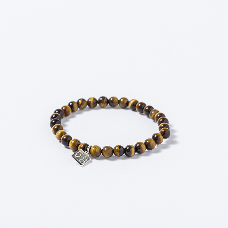 NATURAL STONE BEAD BRACELET (TIGAR EYE)