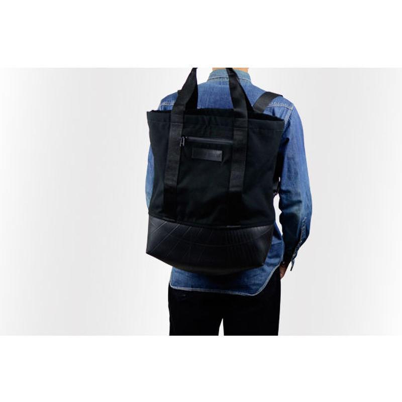 Manee : Backpack+Tote ブラック