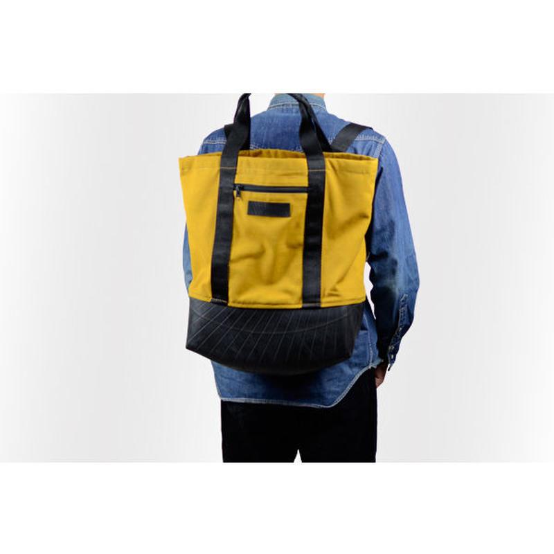 Manee : Backpack+Tote イエロー