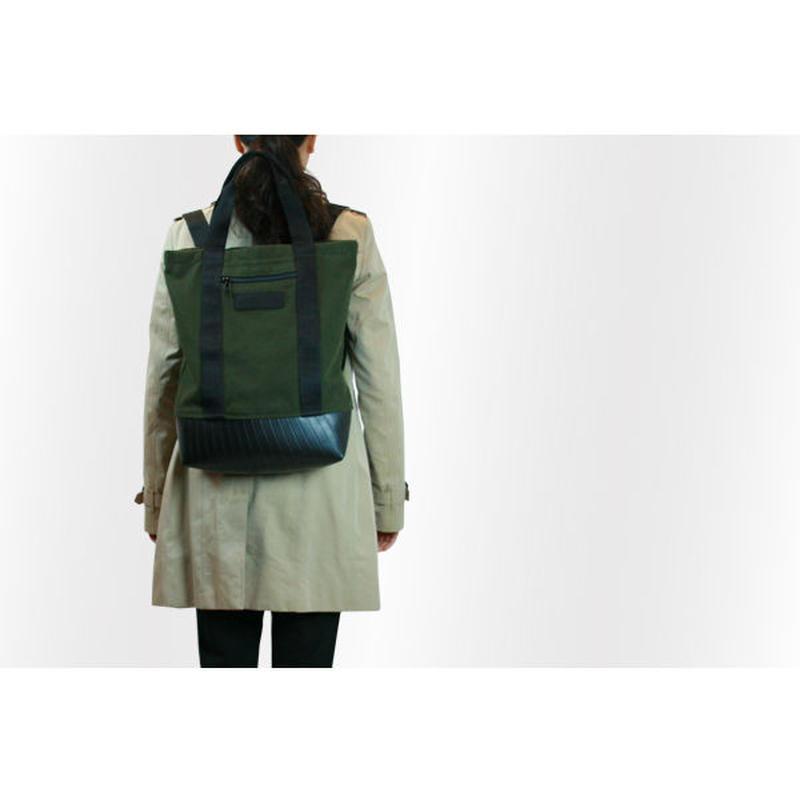 Mini Manee : Backpack+Tote カーキ