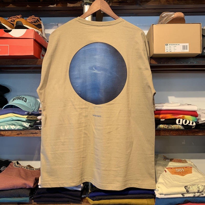 "【ラス1】RUGGED ""Neptune"" pocket tee (Sand Khaki)"