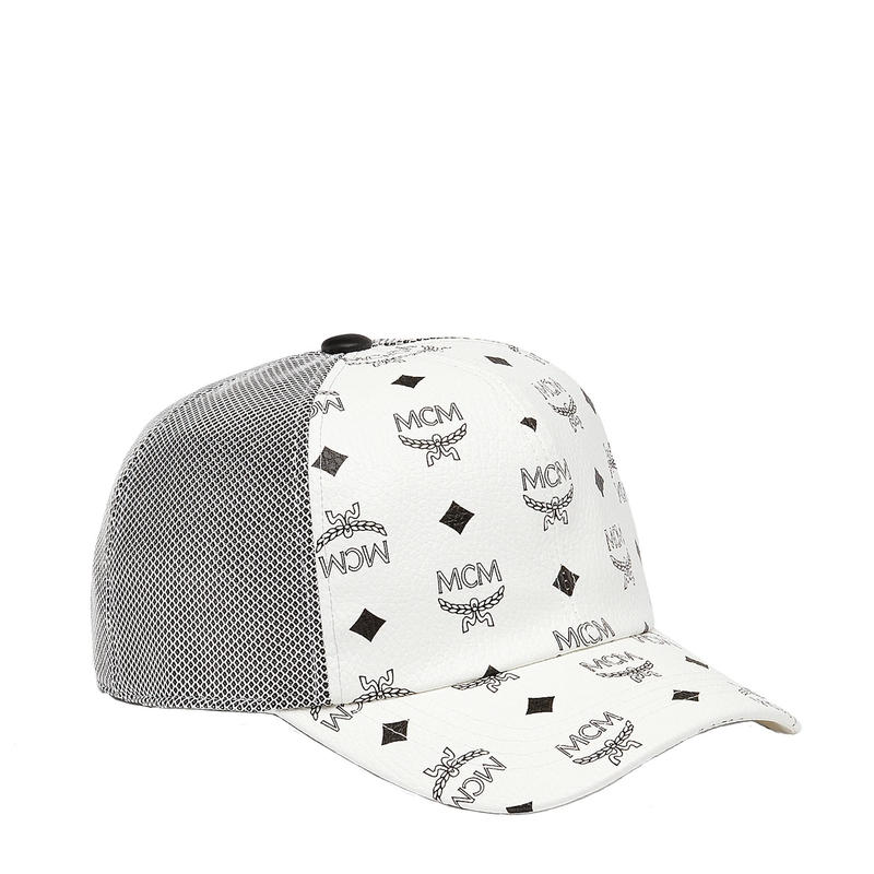 【ラス1】MCM visetos mesh cap (White)