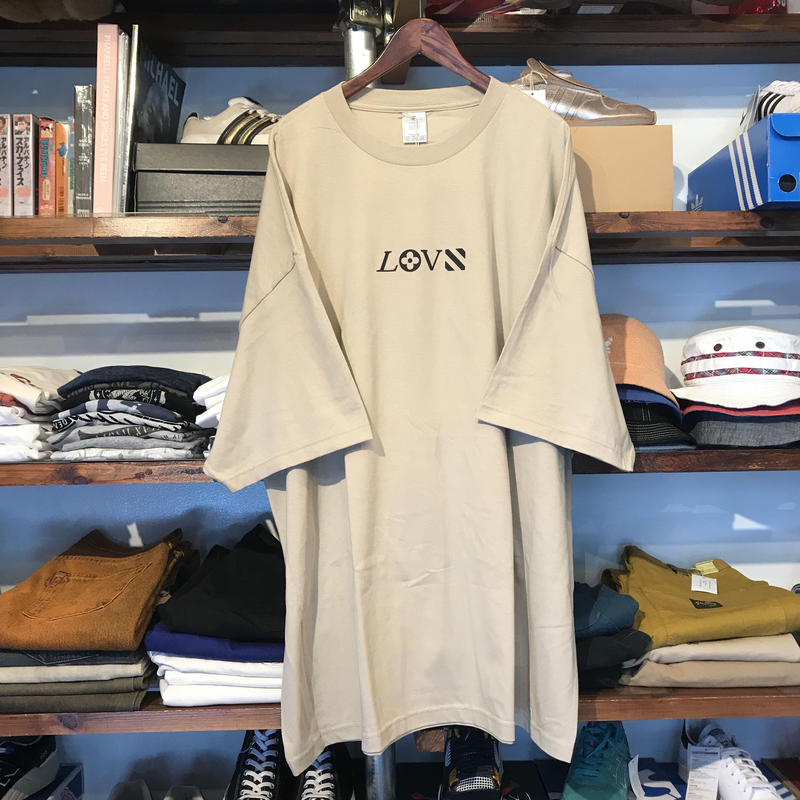 "【ラス1】RUGGED ""LOVE"" Big size tee (Sand Beige)"