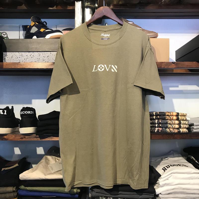 """【ラス1】RUGGED """"LOVE"""" tee (Ash Green)"""
