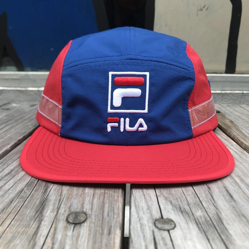 【残り僅か】FILA 5panel side tape adjuster cap (Red)